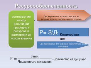 соотношение между величиной природных ресурсов и размерами их использования с