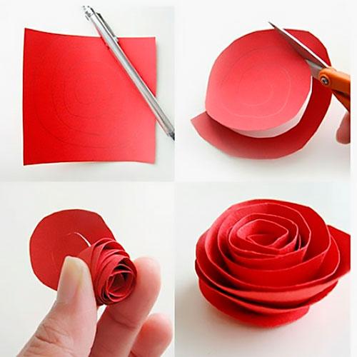 Как сделать из бумаги розу своими руками