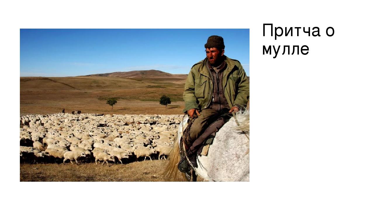 Притча о мулле Спутники решили узнать, так ли всё понял пастух, и спросили ег...
