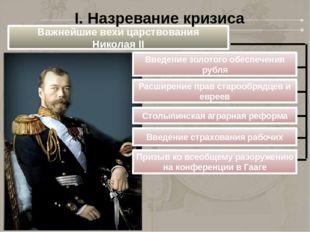 Важнейшие вехи царствования Николая II Введение золотого обеспечения рубля Ра