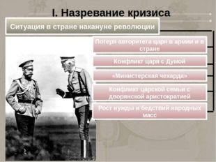 Ситуация в стране накануне революции Потеря авторитета царя в армии и в стран