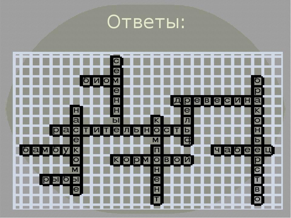 Кроссворд по географии 8 класс растительный мир россии