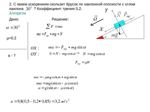 Задачи с решением по динамике примеры решения задач по электроники