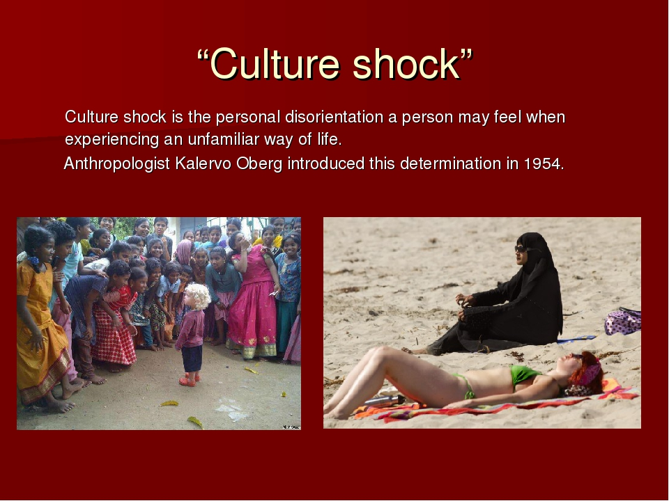 culture shock essay introduction Culture shock the term, culture shock, was introduced for the first time in 1958 to describe the anxiety produced when a person moves to a completely new environment this term expresses the lack of direction, the feeling of not knowing what to do or how to do things in a new environment.