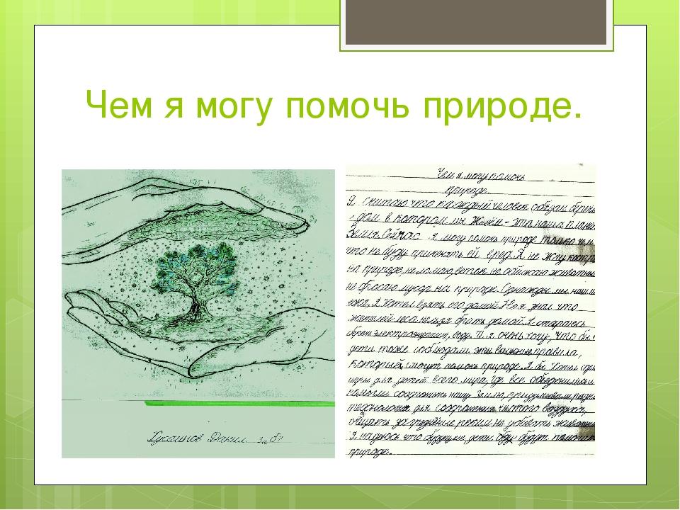 Как помочь природе доклад 9791