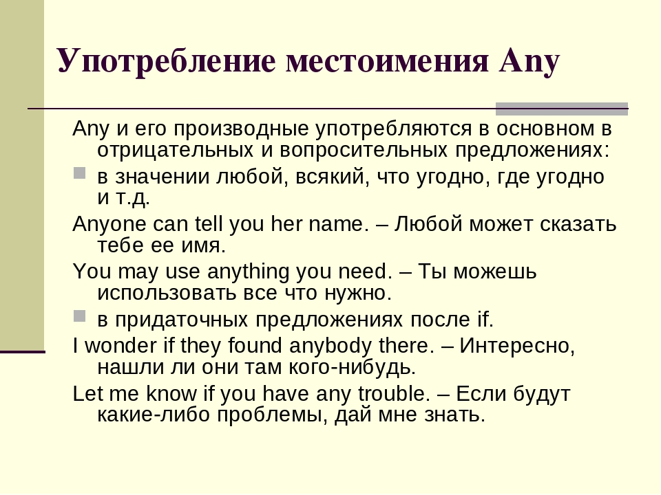 Употребление some, any, no в английском языке ‹ Грамматика ...