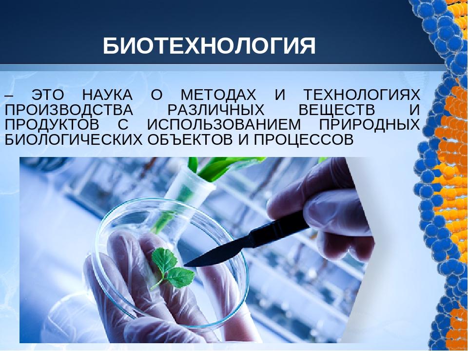 Реферат на тему понятие биотехнологии 3157