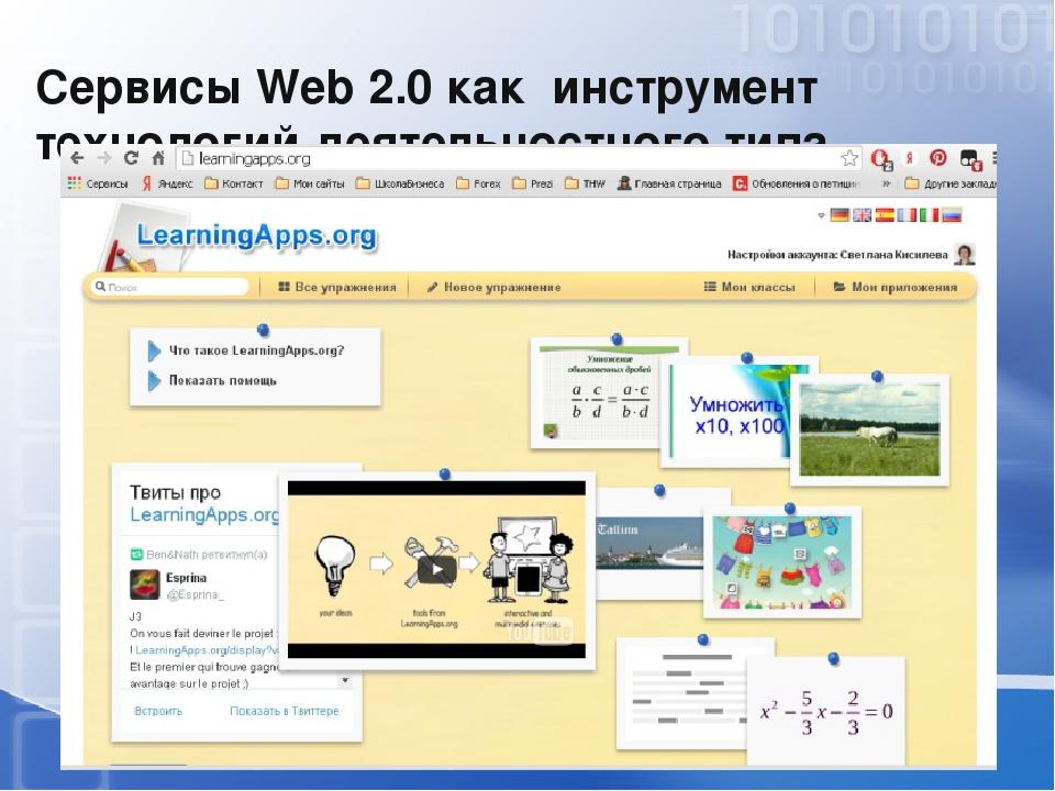 Сервисы Web 2.0 как инструмент технологий деятельностного типа Web 2.0— мето...