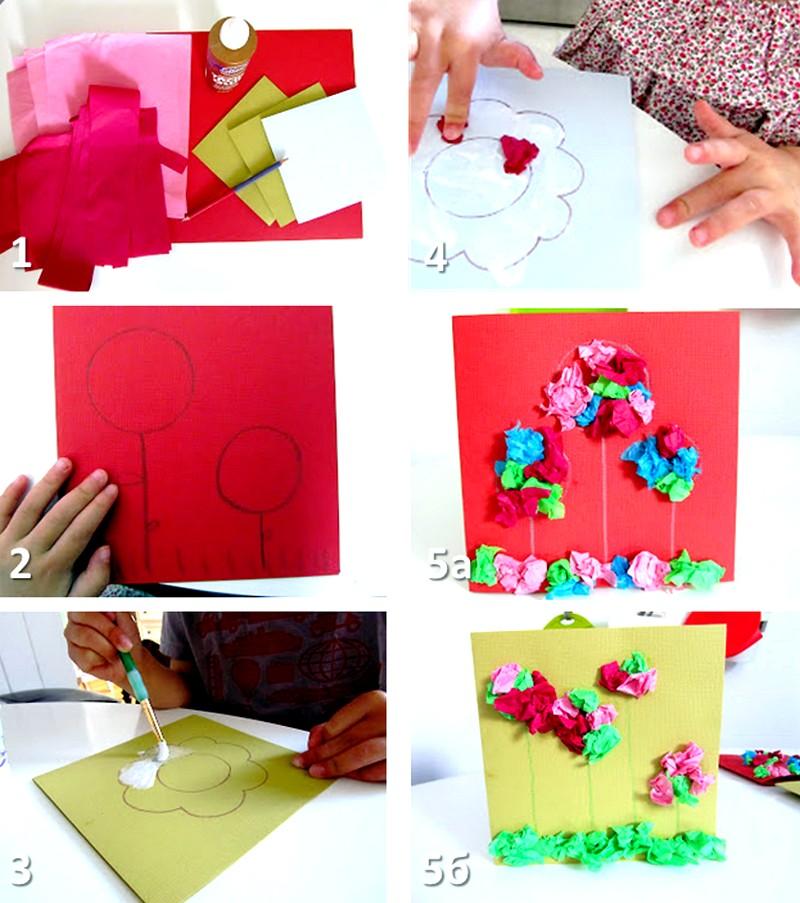 Как сделать красивую открытку на день мам своими руками видео
