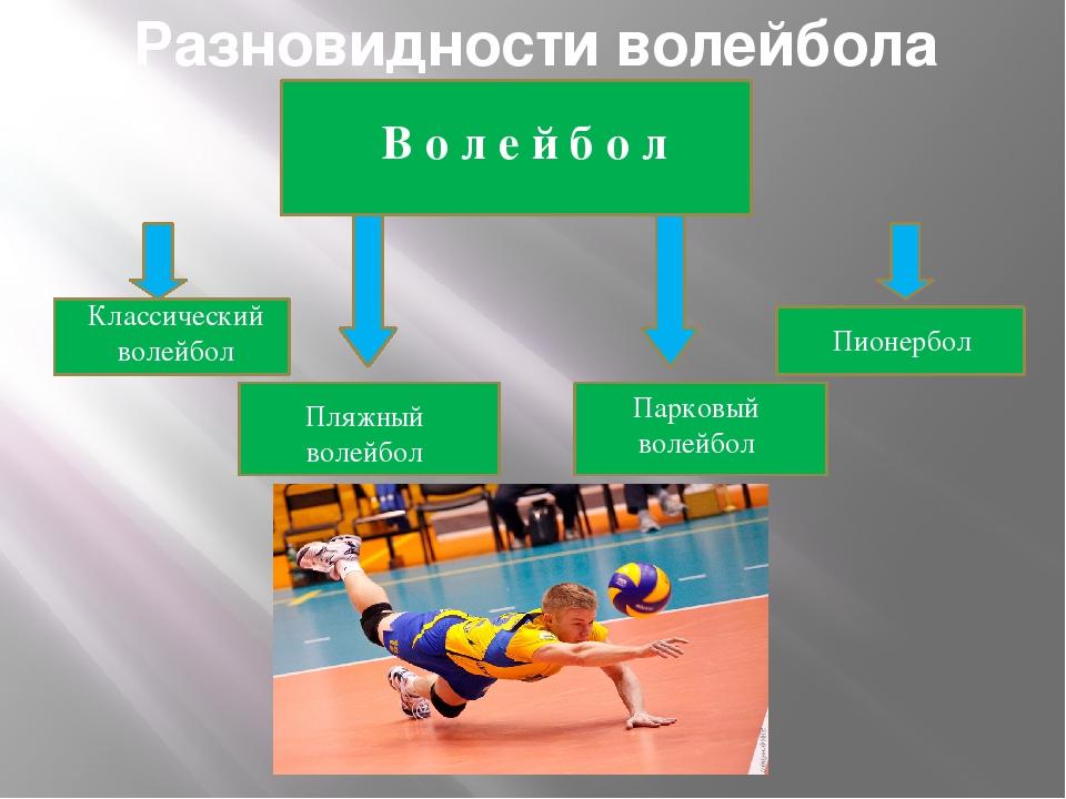 Разновидности волейбола В о л е й б о л Классический волейбол Пляжный волейбо...