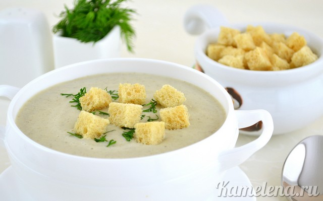 Грибной суп пюре из шампиньонов рецепт