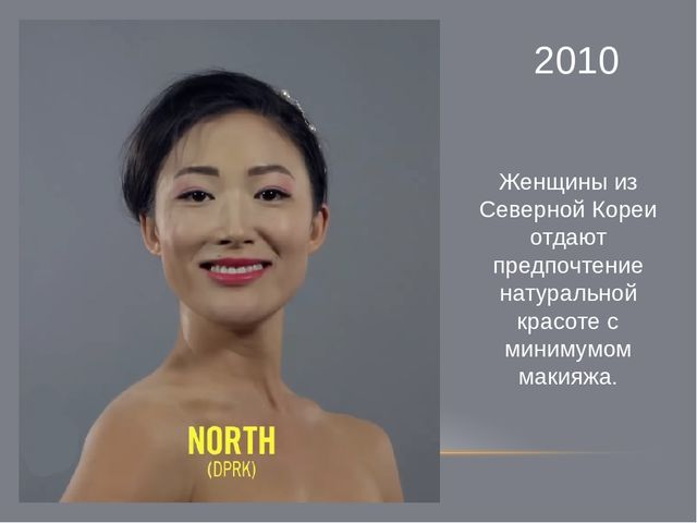 2010 Женщины из Северной Кореи отдают предпочтение натуральной красоте с мини...