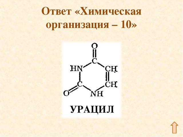 Ответ «Химическая организация – 10»