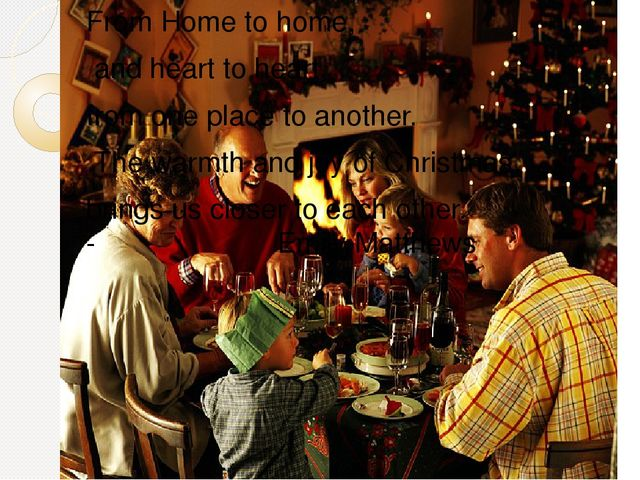 essays on christmas traditions In this essay sample the author describes how he spent his last christmas usually we associate christmas with peace, parties and christmas tree but is there any of this when you are moving to another town.