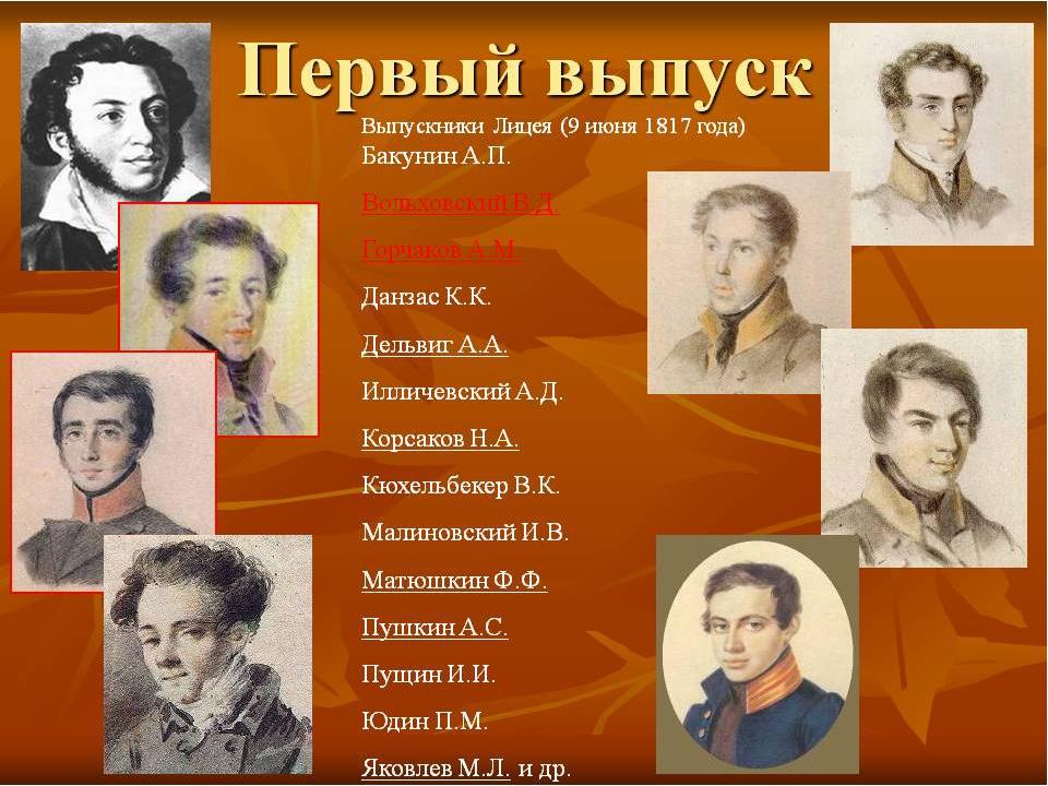 Сценарий лицейские друзья пушкина