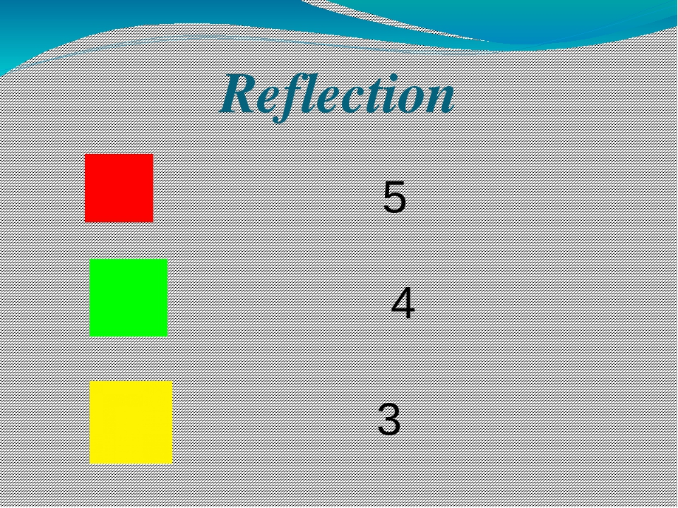 Reflection 3 4 5