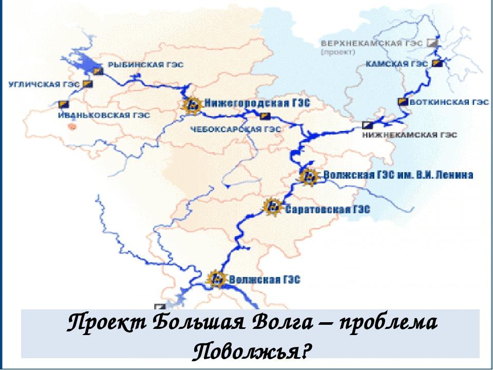 Проект Большая Волга – проблема Поволжья?