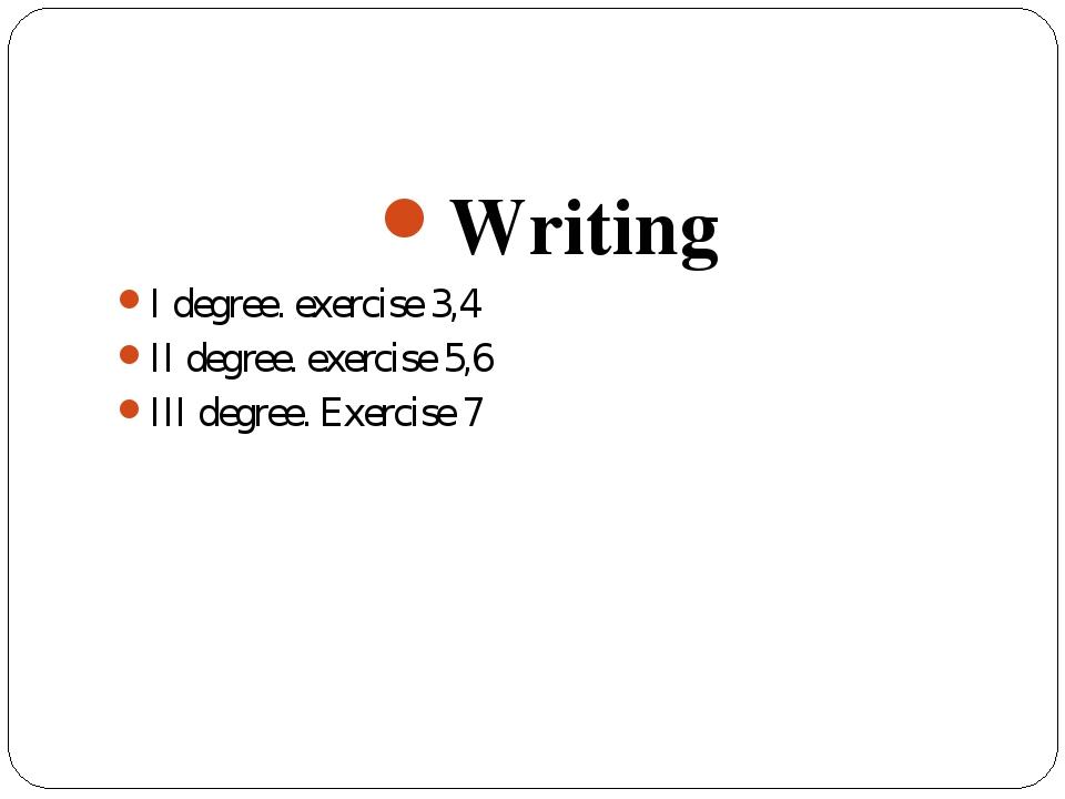 writing degrees