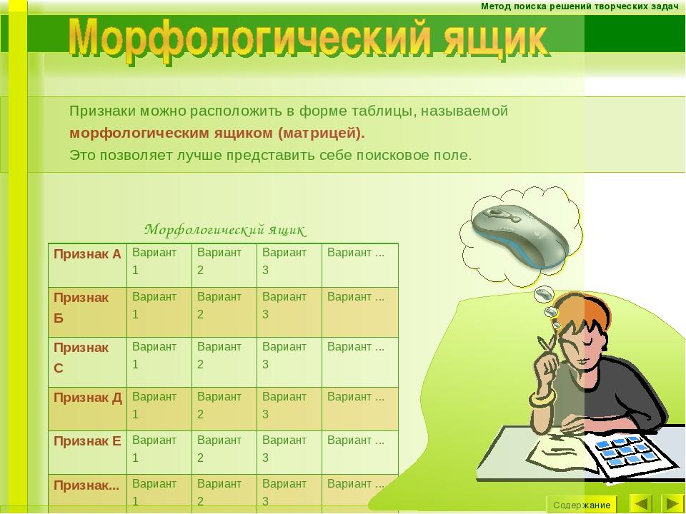 Реферат на тему метод морфологического анализа 2013