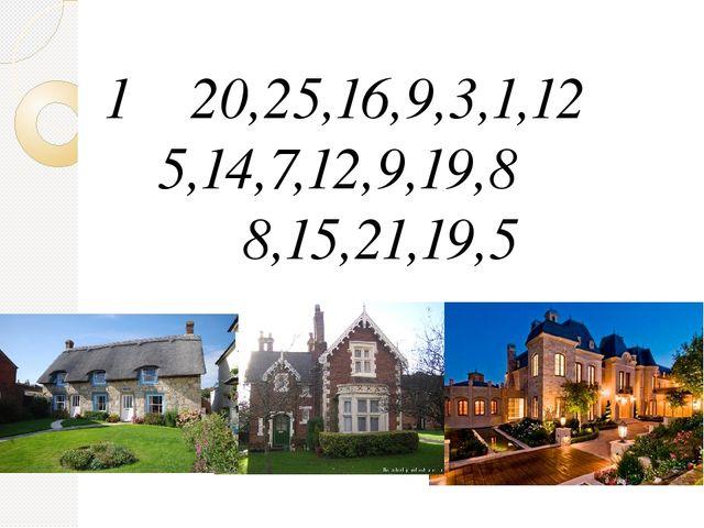 20,25,16,9,3,1,12 5,14,7,12,9,19,8 8,15,21,19,5