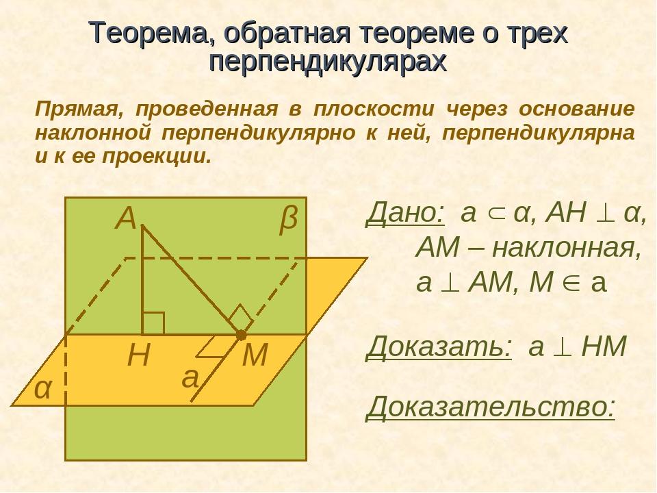 Презентация теорема о 3 перпендикулярах — img 1