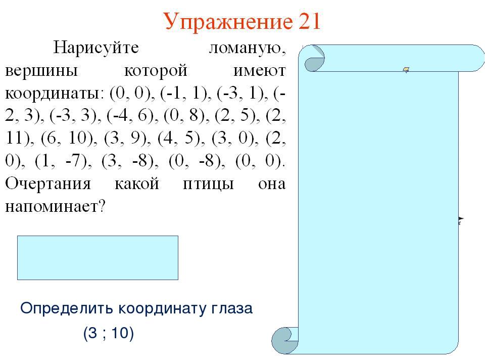 Рисуем по координатам 6 класс картинки и координаты