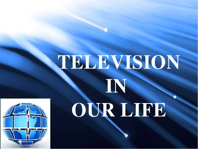 "television in our life 28-03-2008 television's impact on society march 28, 2008  75-year-old lucille lofty recalled that her family's lifestyle radically changed after purchasing their first tv set in 1952 ""our family,  the newness of television technology never really wore off as she tells how her father, (for the rest of his life) turned on the tv as soon as he got up in the morning,."
