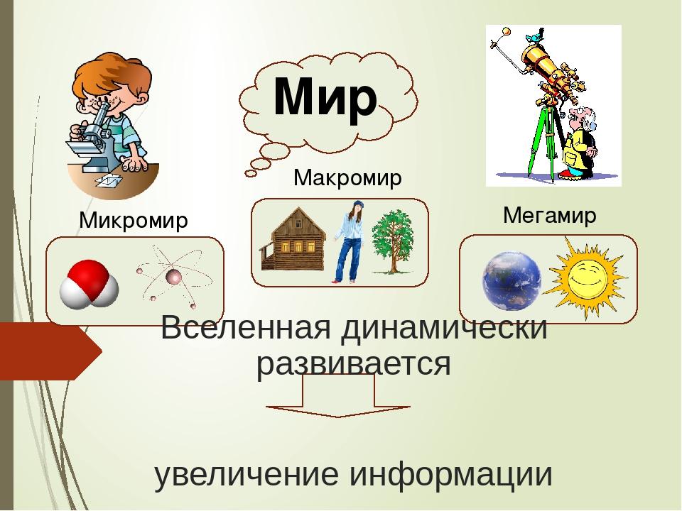 микромир макромир и мегамир картинки картина