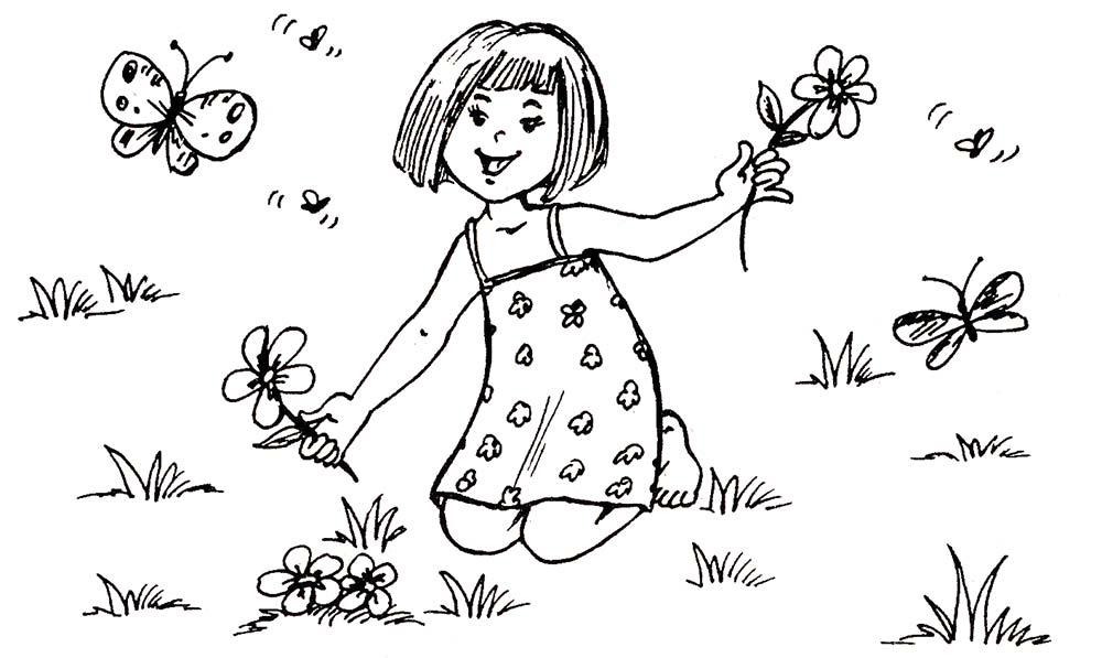 Цветы раскраска для детей. Распечатать картинки с…
