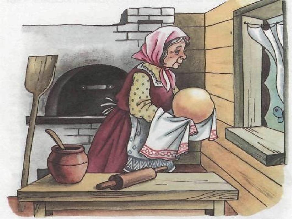 Полугодием открытки, картинка для детей бабушка репу печет в по тарелочкам кладет картинках
