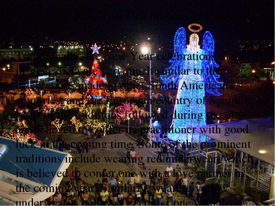 Traditional New Year Celebrations in Venezuela Traditional New Year Celebrat...