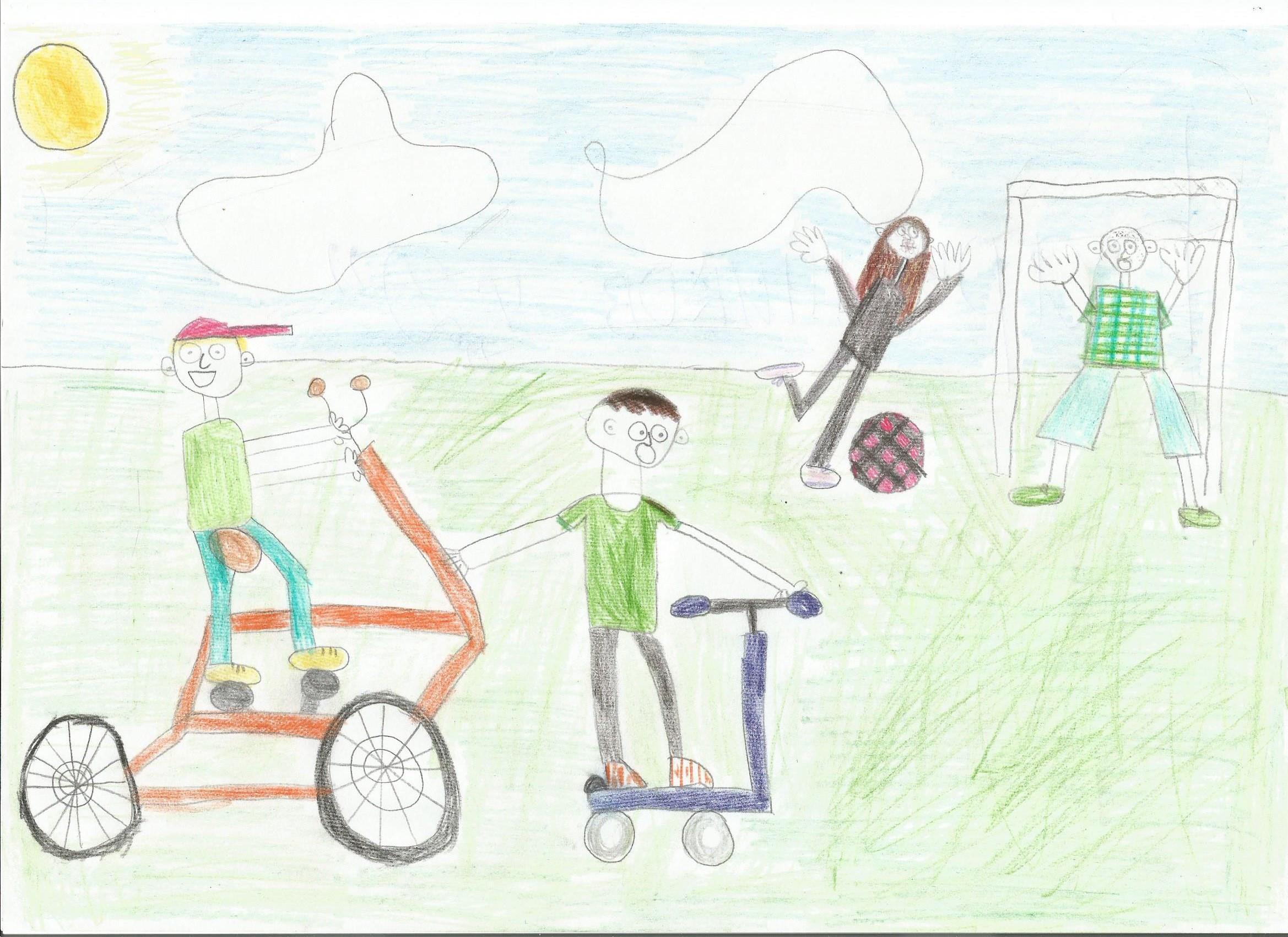 длинным рисунок папа мама я спортивная семья воздушная яичница вкусный