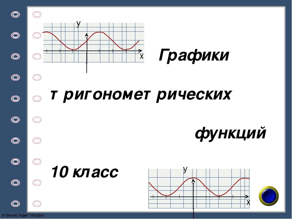 10 гдз по функций математике класс-графики тригонометрических