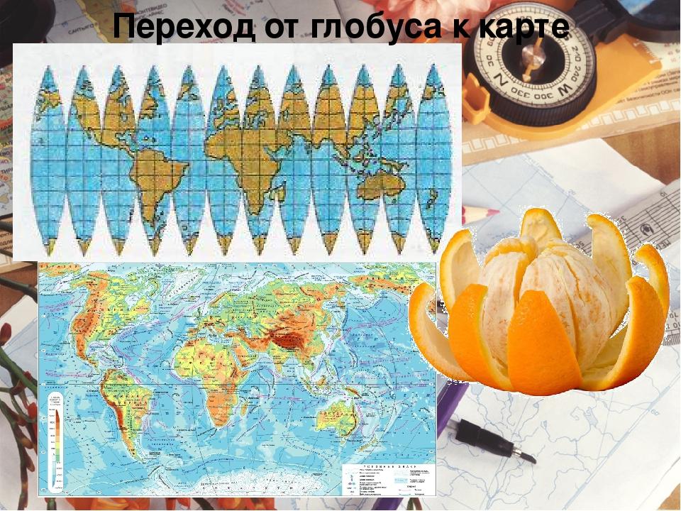 Переход от глобуса к карте