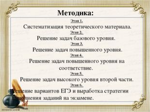 Методика: Этап 1. Систематизация теоретического материала. Этап 2. Решение за