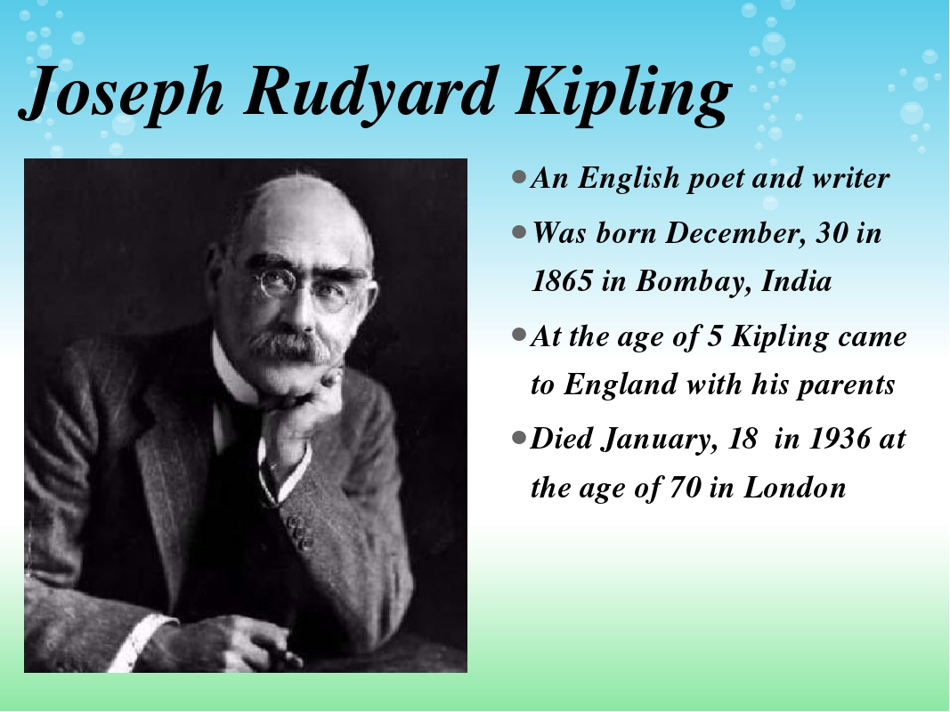 a biography of rudyard kipling the english writer and poet Rudyard kipling, famous author and poet, is remembered for his children's stories, including the jungle book and the just so stories part of our great people.