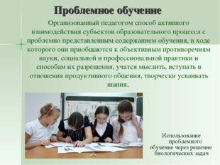 Проблемное обучение Организованный педагогом способ активного взаимодействия