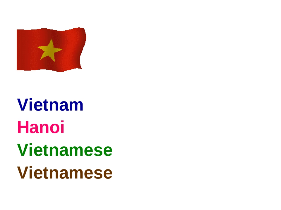 Vietnam Hanoi Vietnamese Vietnamese