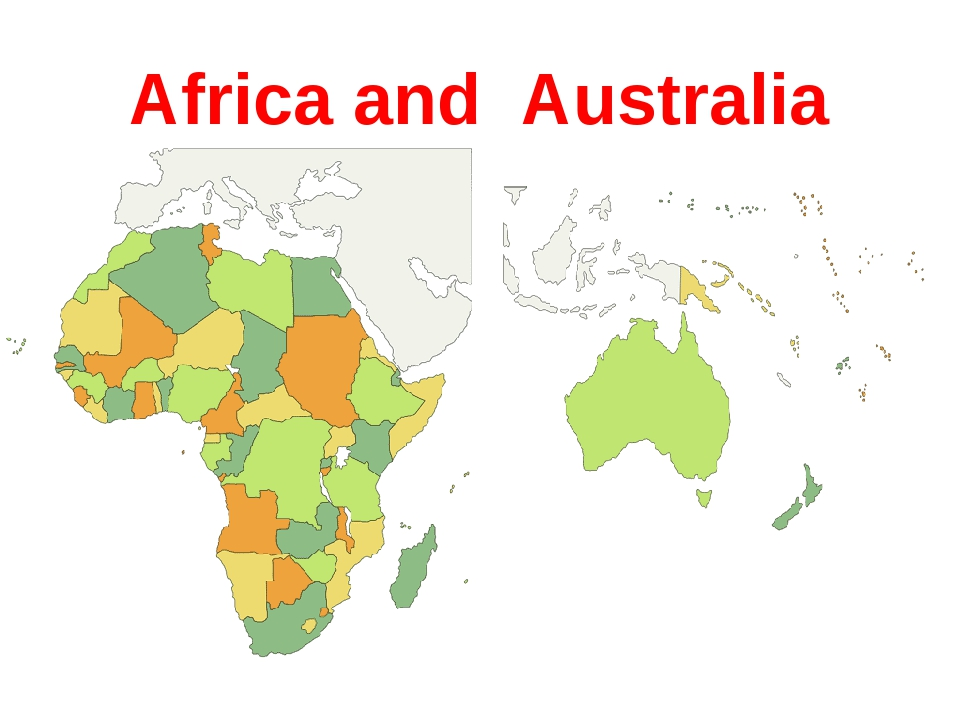Africa and Australia
