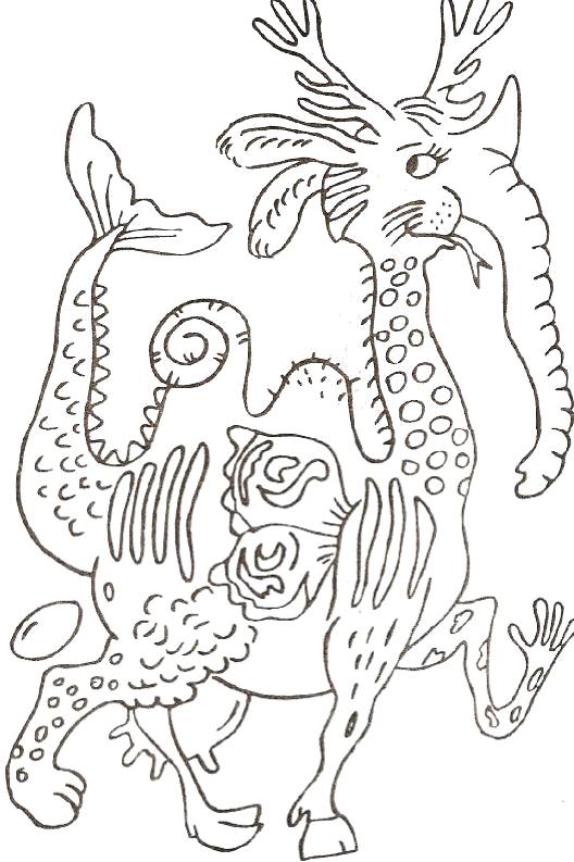 Как нарисовать в картинках фантастическое животное