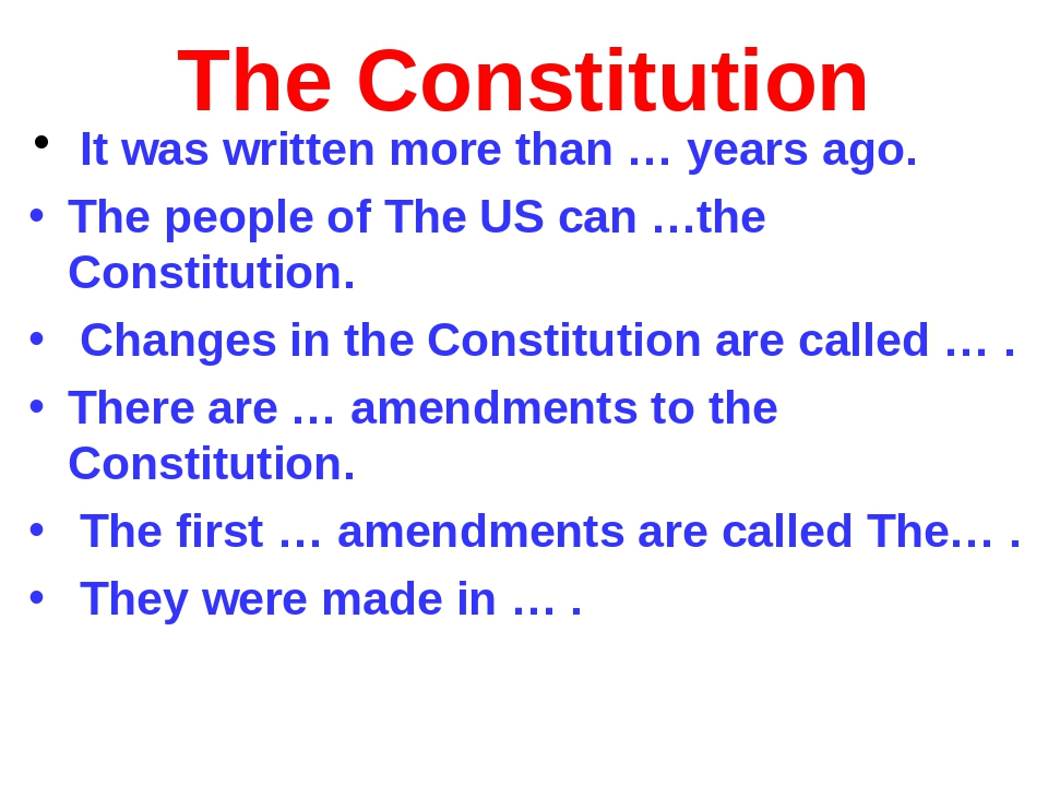 The Constitution It was written more than … years ago. The people of The US c...