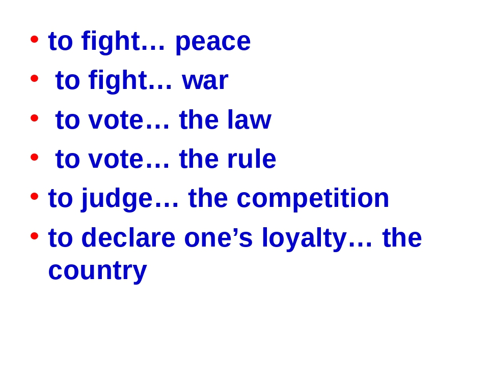 to fight… peace to fight… war to vote… the law to vote… the rule to judge… th...