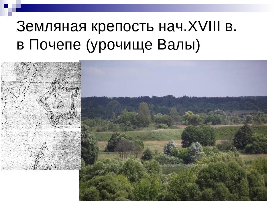 Земляная крепость нач.XVIII в. в Почепе (урочище Валы)