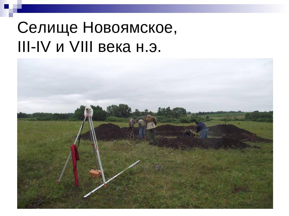 Селище Новоямское, III-IV и VIII века н.э.