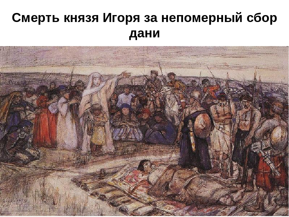 Смерть князя Игоря за непомерный сбор дани