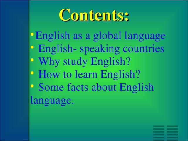 english as the global language