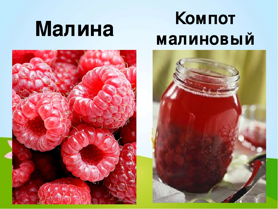Рецепты компота малины с
