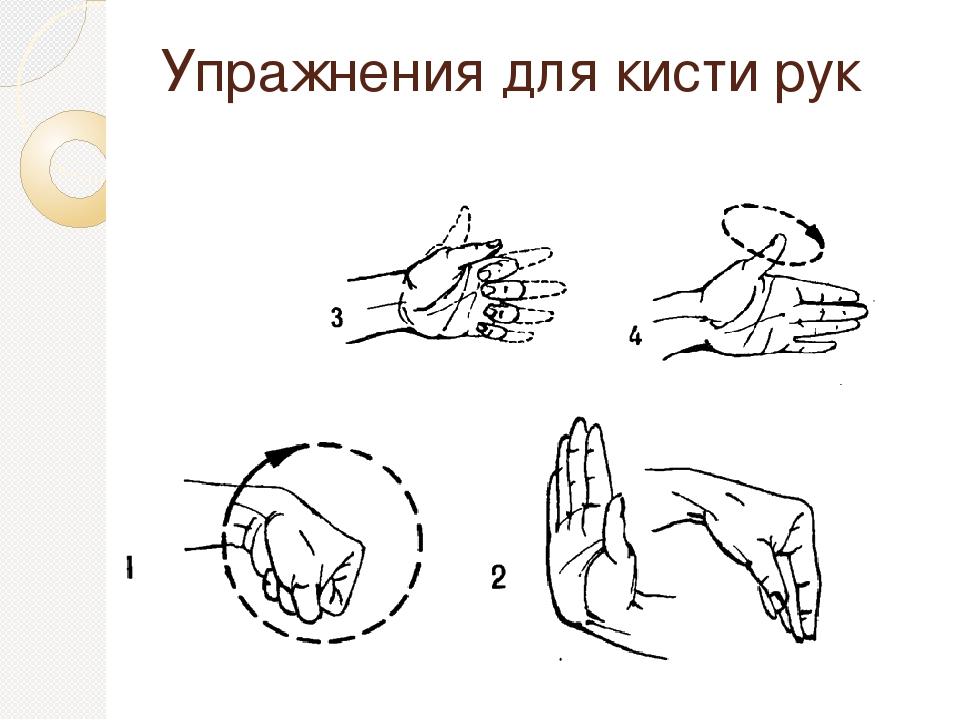 внешним упражнения на кисти рук в картинках ему, при