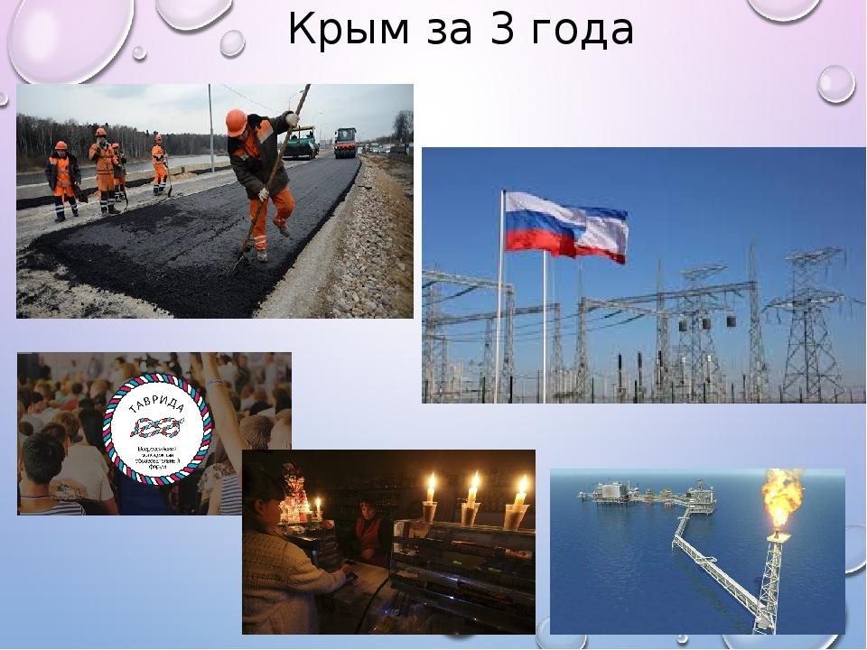 Крым за 3 года