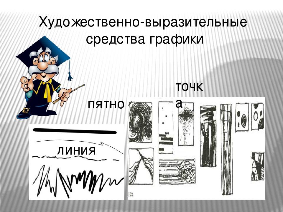 Художественно-выразительные средства графики линия точка пятно